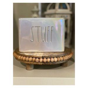 "Rae Dunn Bathroom Ceramic ""STUFF"""